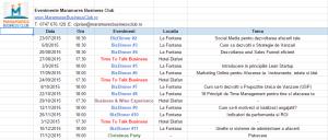 calendar evenimente maramures business club
